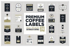 Premium Coffee Labels