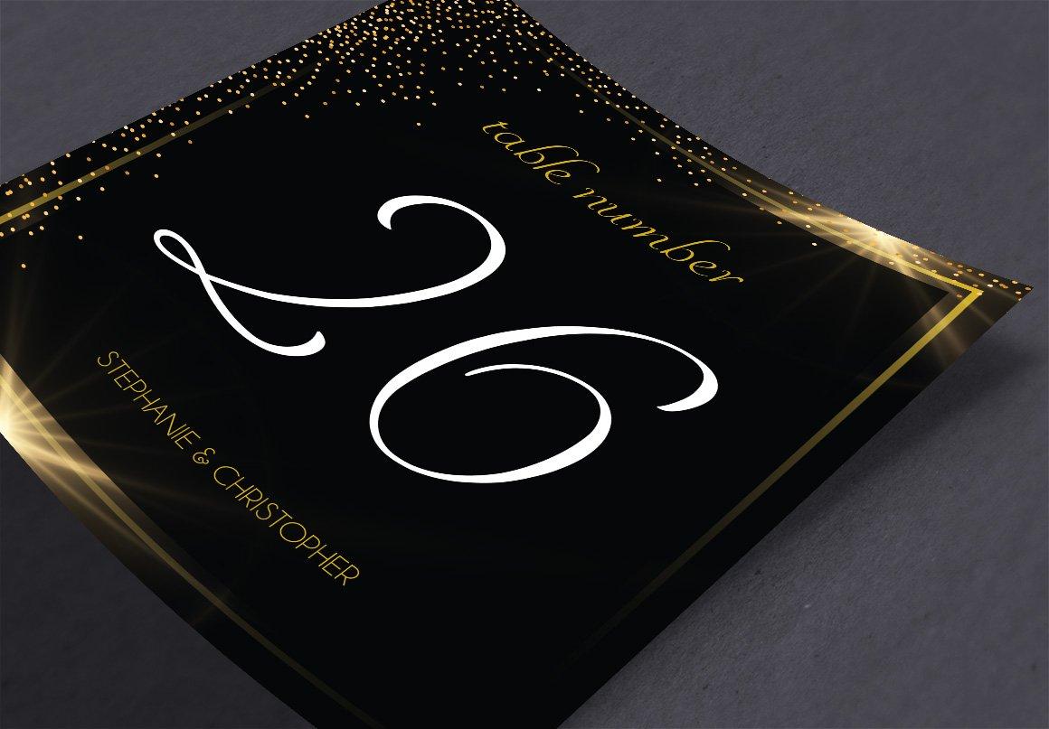 Black Gold Wedding Invitation Suite | Creative Daddy