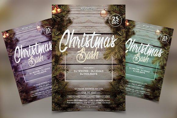 Christmas Bash - Winter PSD Flyer