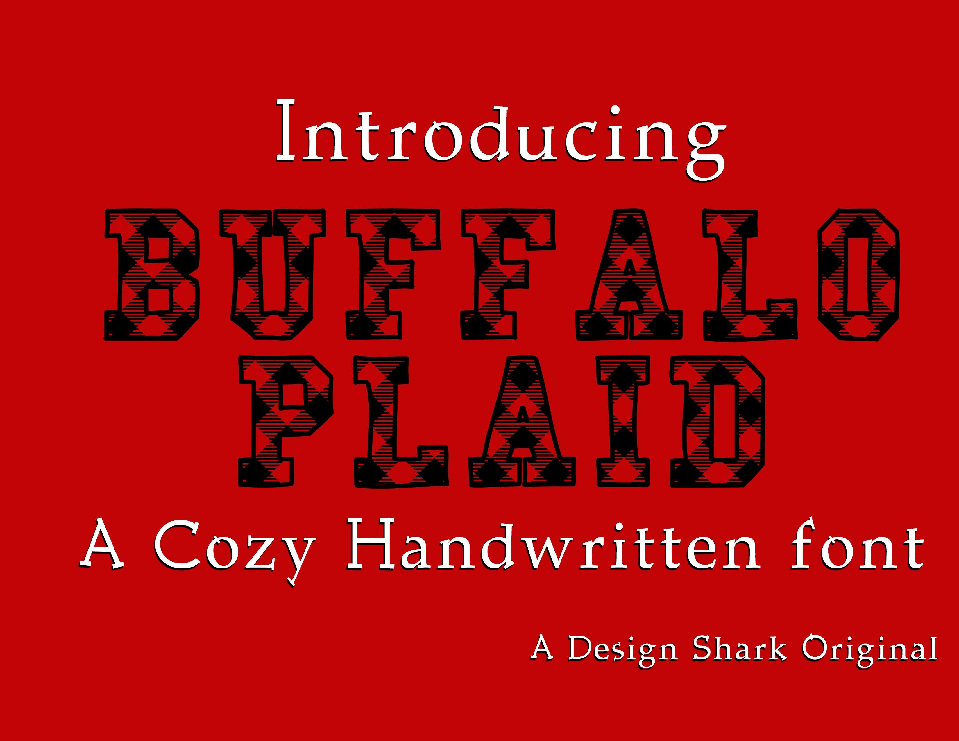 Buffalo Plaid Serif Fonts Creative Market