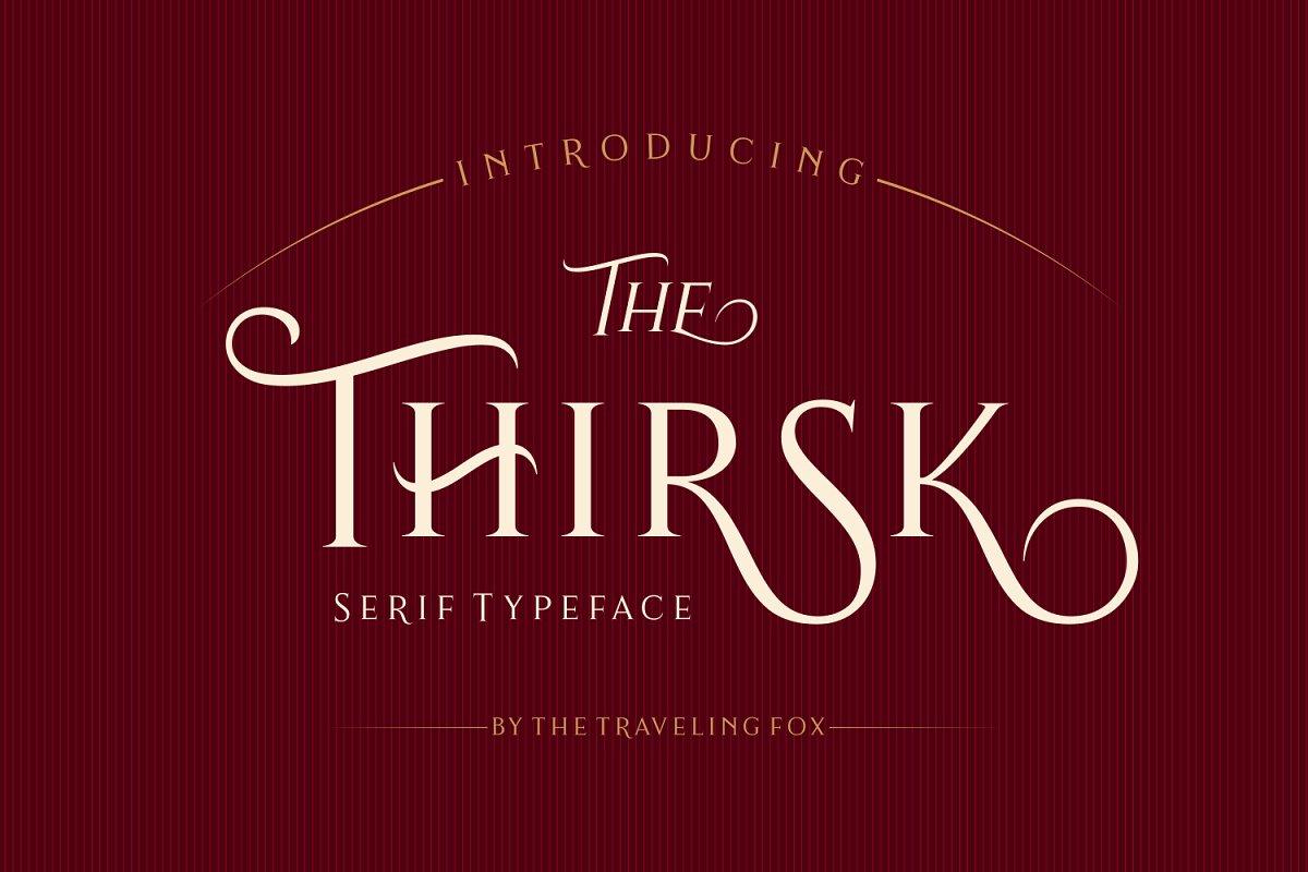 Thirsk - An Elegant Serif