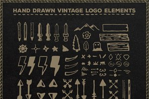 Drawn Logo Elements + free ext licen