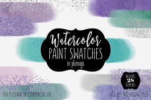 Plumage Watercolor Paint Rectangles