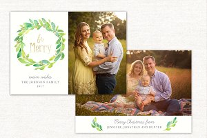 Christmas Card Template Merry CC163