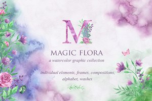 Magic Floral Watercolor Collection