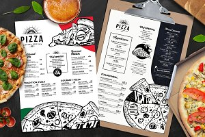 A4 Pizza Menu Templates