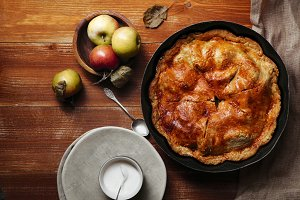 Traditional sweet apple pie