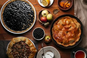 Traditional autumn pies