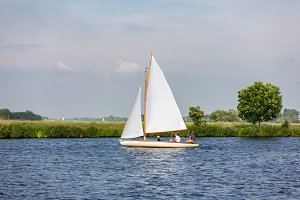 Sailboat on lake 't Joppe.