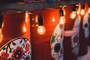 Mexican style & vintage light bulbs
