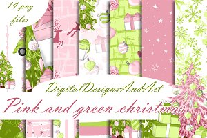 Christmas in pink and mint