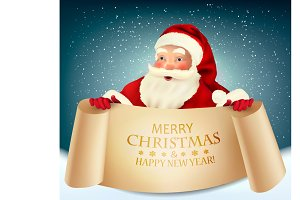 Christmas greeting card with Santa C