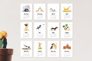 2018 calendar with cute dogs
