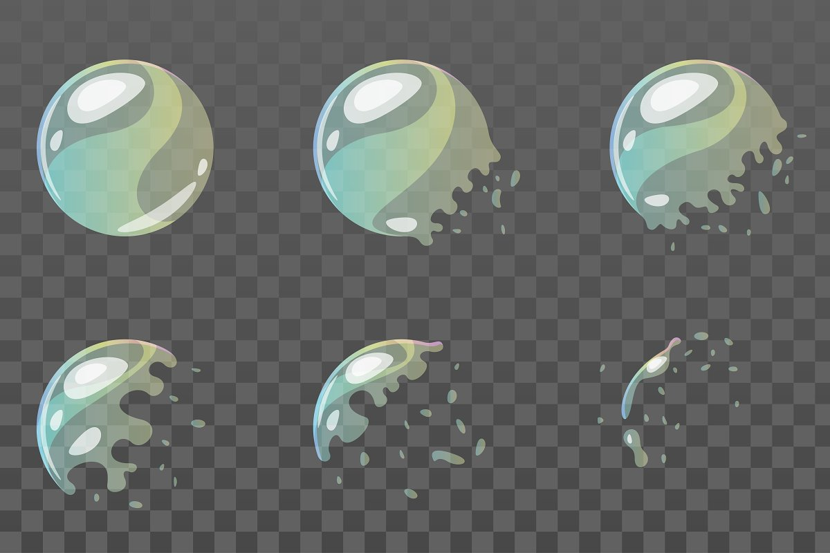 Soap bubble for animation