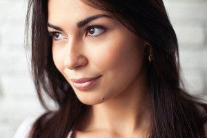 beauty close-up portrait young woman