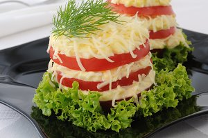 Appetizer of tomatoes