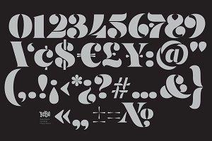 Stencil Numerals