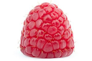 Ripe raspberry isolated