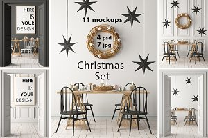 Christmas mockup in the interior p.2