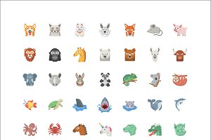 Animal Emoji - 42 Vector Icons
