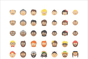 People Emoji - 84 Vector Icons