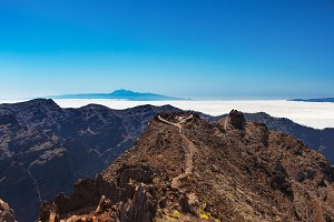 Tenerife and Gomera view from La Palma