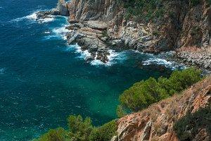 Rocky beach in Tossa del Mar