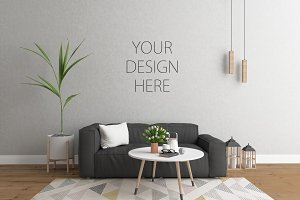 Interior mockup - scandinavian room