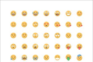 Emoticon Emoji - 63 Vector Icons