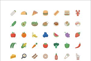 Food Emoji - 84 Vector Icons