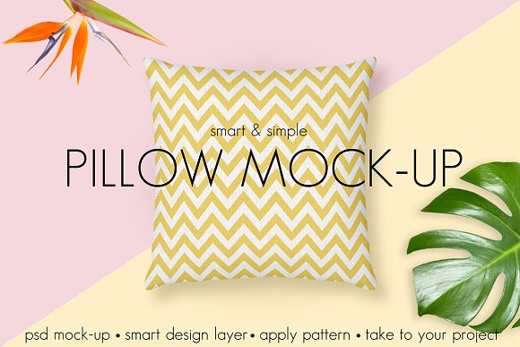 Pillow Mock-up Smart Simple