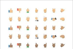 Gesture Emoji - 42 Vector Icons