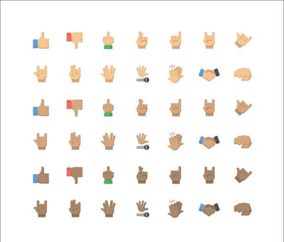 Gesture Emoji 42 Vector Icons