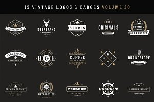 15 Retro Vintage Logotypes or Badges