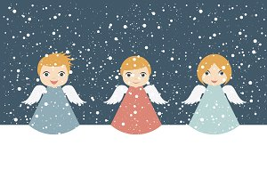 Christmas Angels cartoon