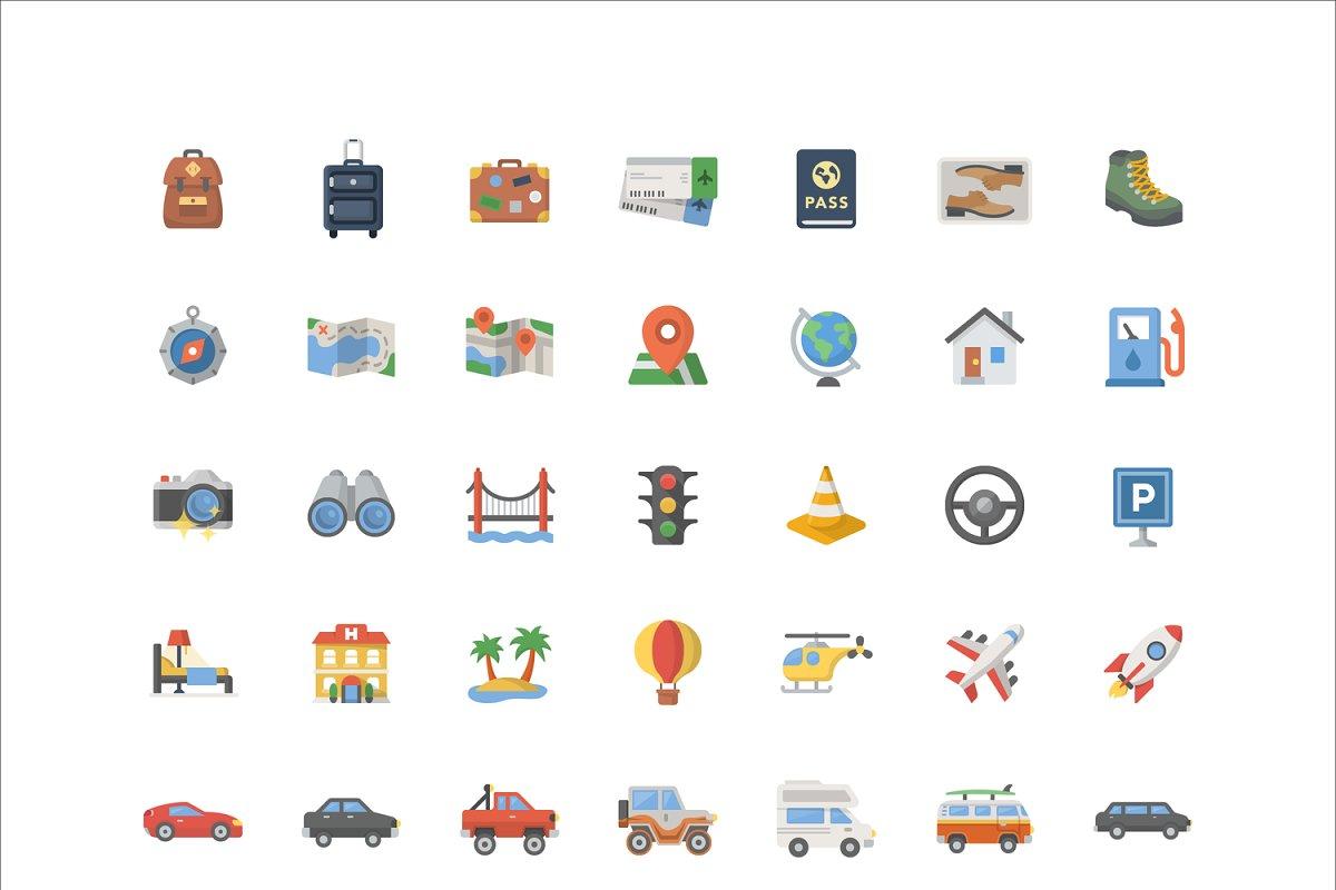 Travel Emoji - 42 Vector Icons ~ Icons ~ Creative Market