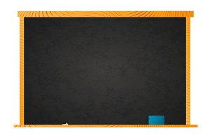 Black empty school chalkboard