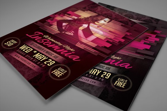 Minimalistic Party/Show Flyer 01 in Flyer Templates - product preview 2