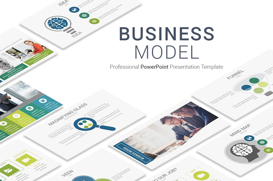 Business model powerpoint template presentation templates business model powerpoint template presentation templates creative market toneelgroepblik Choice Image