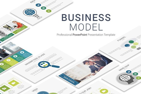 Business Model Powerpoint Template Presentation Templates