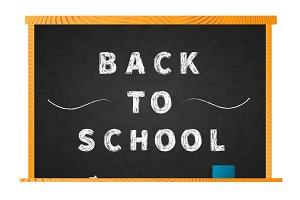 Back to school chalk lettering