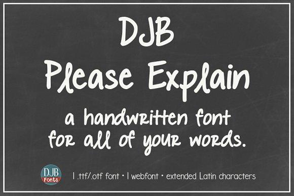 DJB Please Explain