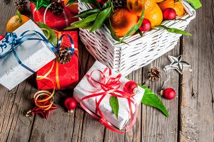 Tangerines and Christmas gifts