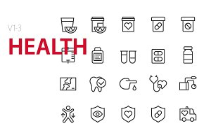 60 Health UI icons