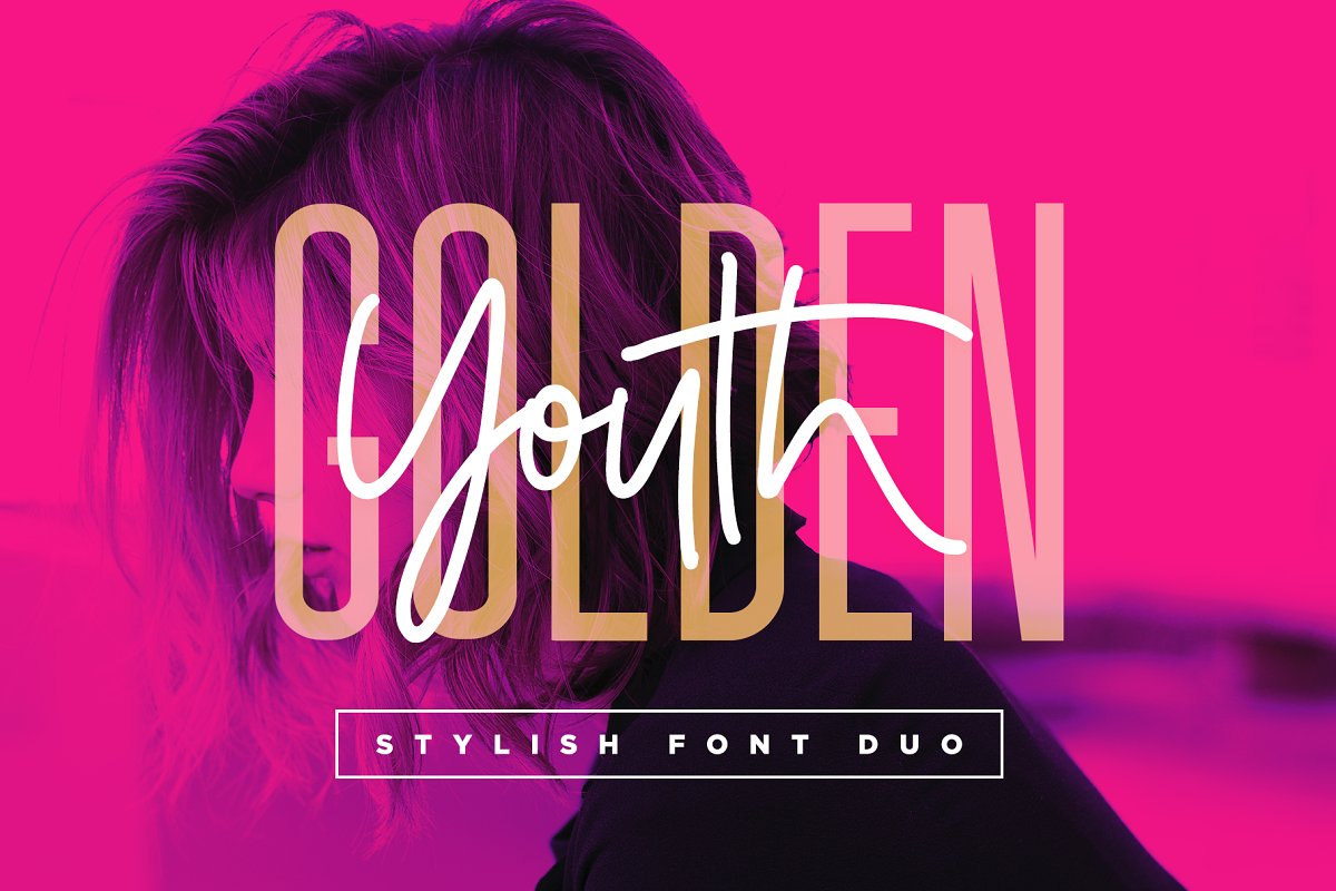 Golden Youth Font Duo ~ Display Fonts ~ Creative Market
