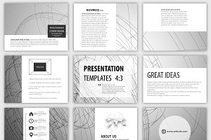Set of 54 templates for presentation