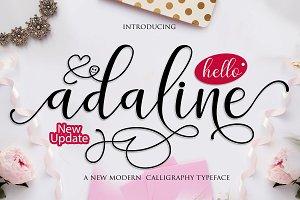 Adaline Script font family