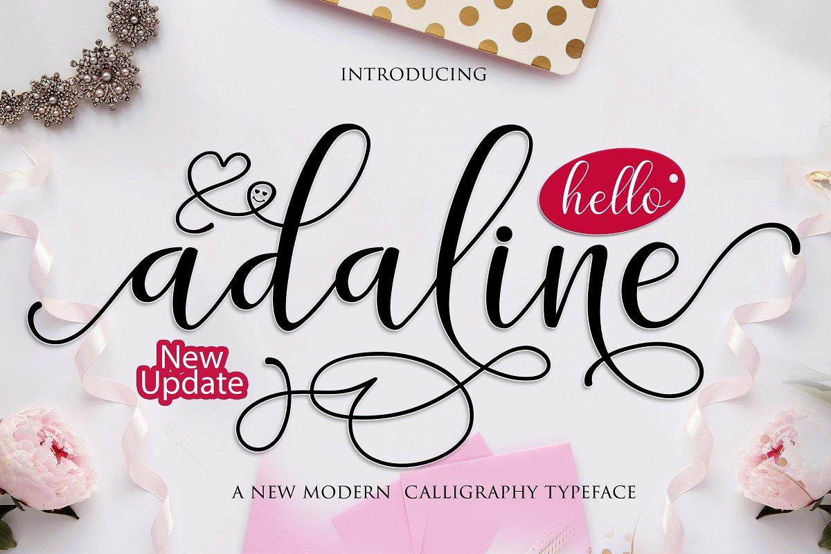 Adaline Script font family ~ Script Fonts ~ Creative Market