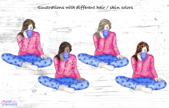 Cosy winter collection in Illustrations - product preview 1