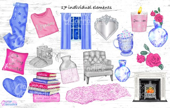 Cosy winter collection in Illustrations - product preview 2